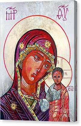 Our Lady Of Kazan Iv Canvas Print by Ryszard Sleczka