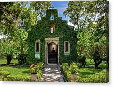 Canvas Print featuring the photograph Our Lady Of Le Leche Chapel St. Augustine Florida   -   Ladyoflelechechapel122921 by Frank J Benz