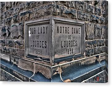 Buffalo Ny Canvas Print - Our Lady Of Lourdes 1898 by Michael Frank Jr