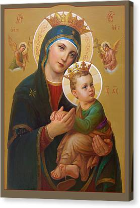 Orthodox Canvas Print - Our Lady Of Perpetual Help - Perpetuo Socorro by Svitozar Nenyuk