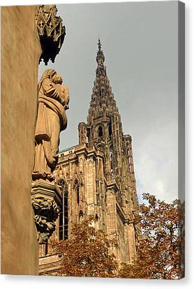 Our Lady Of Strasbourg Canvas Print