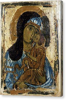 Russian Icon Canvas Print - Our Lady Of Tenderness by Granger