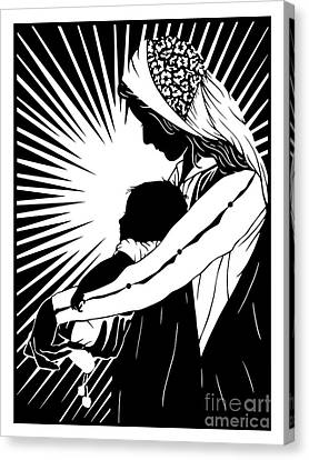 Version 1 Canvas Print - Our Lady Of The Light - Version 1 - Dplo1l by Dan Paulos