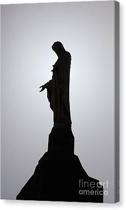 Our Lady Of The Mountain Silhouette Canvas Print by Susan Isakson