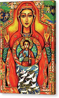 Canvas Print featuring the painting Our Lady Of The Sign by Eva Campbell