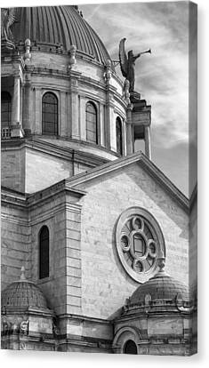 Our Lady Of Victory Basilica Canvas Print by Peter Chilelli