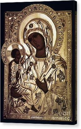 Russian Icon Canvas Print - Our Lady Of Yevsemanisk by Granger