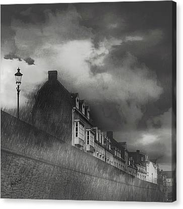 Our Lady Wall Maastricht Canvas Print by Nop Briex