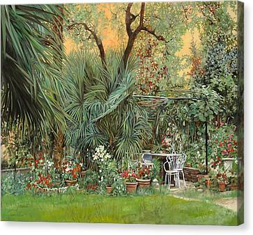 Our Little Garden Canvas Print by Guido Borelli