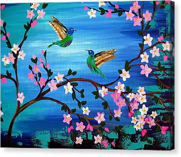 Our Lives Entwined Canvas Print by Cathy Jacobs