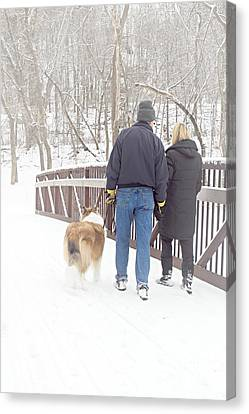 Our Love Will Keep Us Warm Canvas Print by Larry Ricker