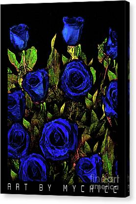Our Officers In Blue Canvas Print by Art by MyChicC