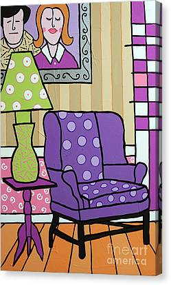 Canvas Print - Our Purple People Seater by Tim Ross