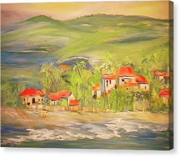 Our Seaside Village Canvas Print