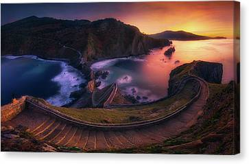 Our Small Wall Of China Canvas Print by Mikel Martinez de Osaba