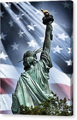 Our Statue Of Liberty Canvas Print by Jim Fitzpatrick