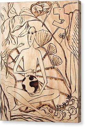 Our World No.3  Divine Plan Canvas Print by Neshka Muchalska