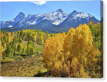 Canvas Print featuring the photograph Ouray County Road 8  by Ray Mathis