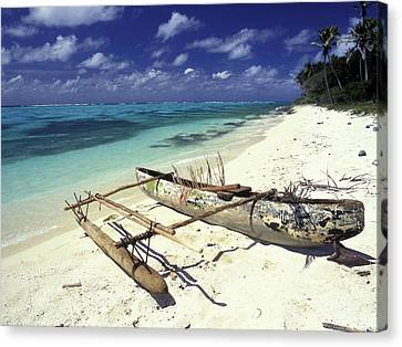 Outrigger Canoe Canvas Print by Sean Davey