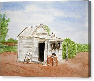 Old Miners Hut Canvas Print