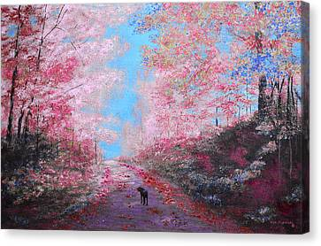 Out For A Walk Spring Canvas Print by Ken Figurski
