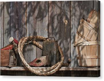 Out In The Barn Iv Canvas Print by Tom Mc Nemar