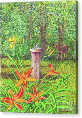 Apple Tree Canvas Print - Out My Back Door by Jim Rehlin