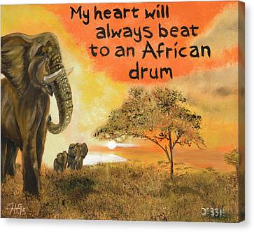 Out Of Africa Canvas Print by The GYPSY And DEBBIE