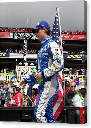 Jr Motorsports Canvas Print - Out Of Retirement by Mark A Brown