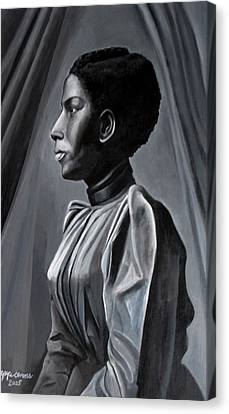 Out Of The Box Woman In Shirtdress Canvas Print by Joyce Owens