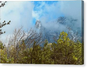 Canvas Print featuring the photograph Out Of The Mist by Glenn McCarthy Art and Photography