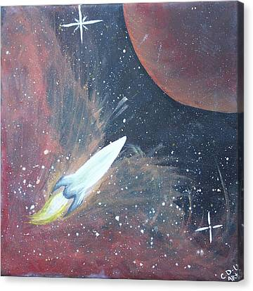 Out Of This World Canvas Print by Cyrionna The Cyerial Artist