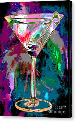 Cosmic Space Canvas Print - Out Of This World Martini by Jon Neidert