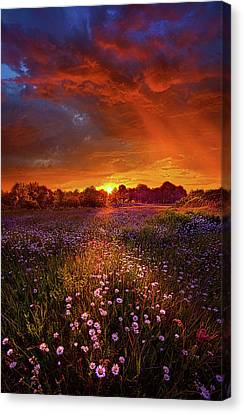 Out On The Edge Of Day Canvas Print
