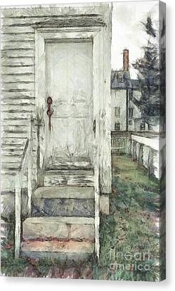 Out The Back Door Pencil Canvas Print
