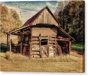 Canvas Print featuring the photograph Out To Pasture 2 by Bellesouth Studio