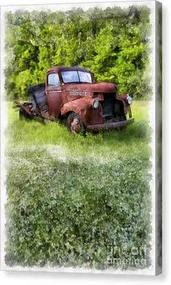 Old Country Roads Canvas Print - Out To Pasture by Edward Fielding