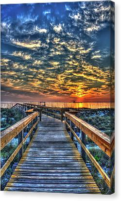 Canvas Print featuring the photograph Out To Sea Tybee Island Georgia Art by Reid Callaway