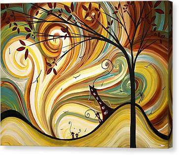 Out West Original Madart Painting Canvas Print by Megan Duncanson