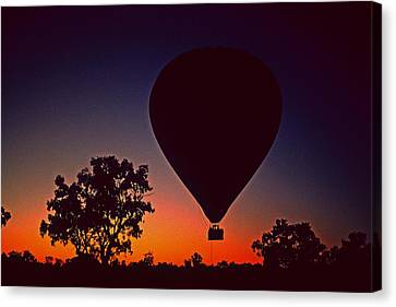 Outback Balloon Launch Canvas Print by Gary Wonning