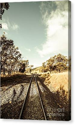 Outback Country Railway Tracks Canvas Print by Jorgo Photography - Wall Art Gallery