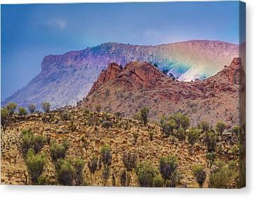 Outback Rainbow Canvas Print by Racheal  Christian