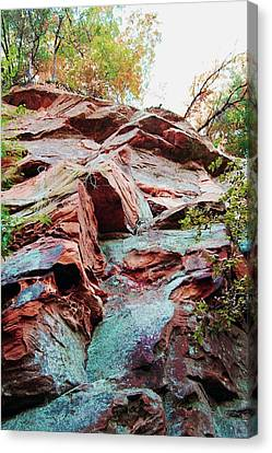 Outcrop At Wildcat Den Canvas Print