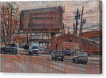 Outdoor Advertising Canvas Print by Donald Maier