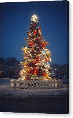 Outdoor Christmas Tree Canvas Print by Utah Images