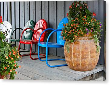 Outdoor Living Canvas Print by Karon Melillo DeVega