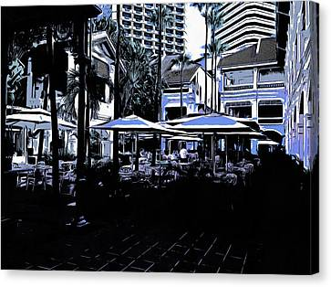 Outdoor Restaurants Canvas Print by Ashish Agarwal
