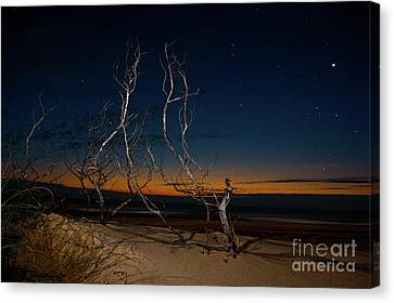 Canvas Print featuring the photograph Outer Banks Sunrise With Venus And Scorpio by Dan Carmichael