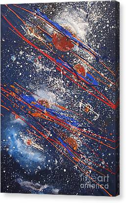 Outer Space Canvas Print by Miroslaw  Chelchowski