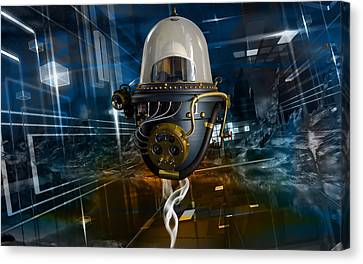 Outer Space Canvas Print - Outer Space Traveler by Marvin Blaine